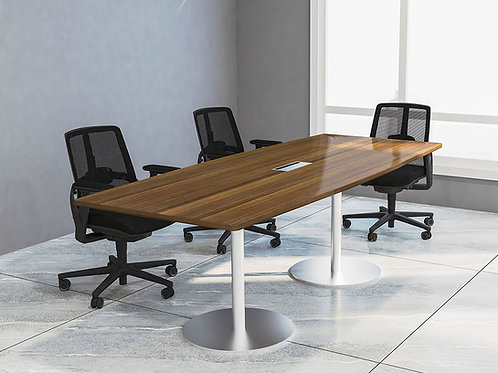 Jace Meeting Table in Brown Walnut