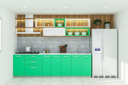 Melania Modular Kitchen in Sea Green