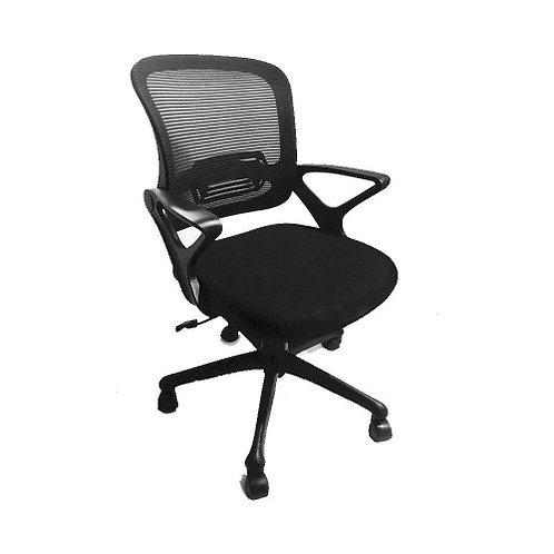 Poise Black Mesh Chair