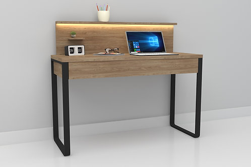 Zoey Work From Home Table in Exotic Teak