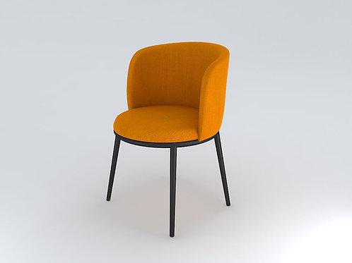 Amato Mid Back Chair in Turmeric Yellow