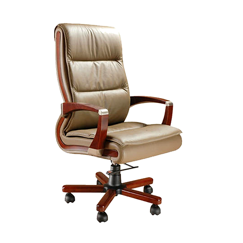 Eris High Back Ergonomic Chair in Leather Finish