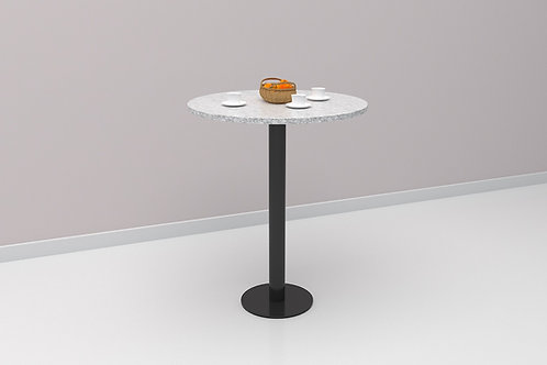 Arno Cafe Table in Textured White