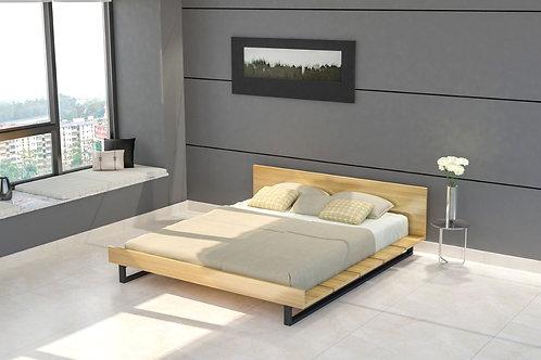 Anna Double Bed in Cream Oak