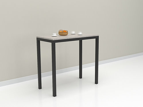 Finke Cafe Table in Chalk and Dark Brown