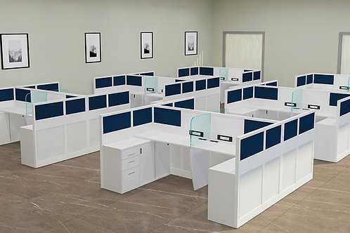 Kevin Workstation in Marble White