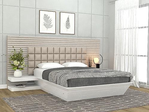 Helen Queen Size Bed in Natural Ash