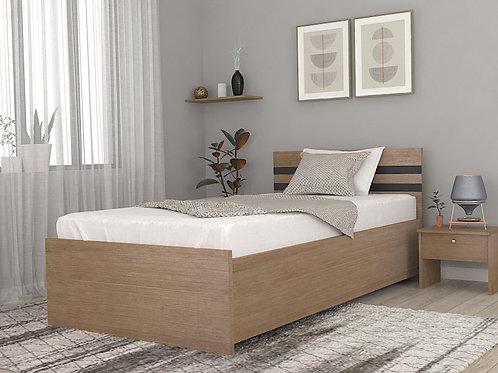 Nestor Single Bed with Storage in Sugar Pine