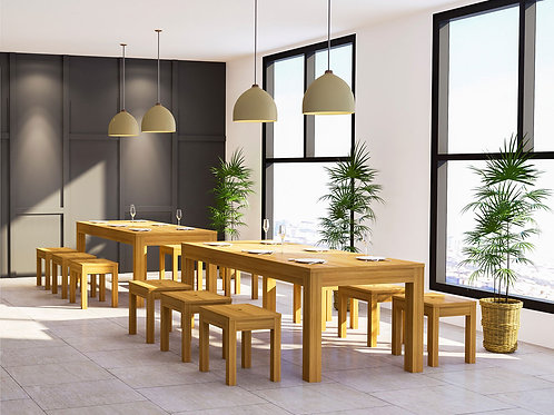 Oder Canteen Seating in Maple