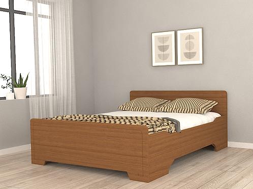 Iris Queen Size Bed in Textured Kempas