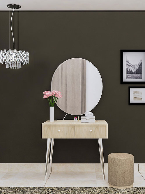 Gia Dressing Table in Marble White Finish