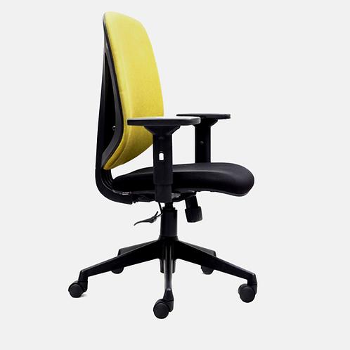 Eudora Medium Back Chair in Yellow & Black