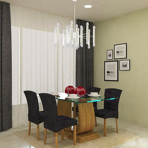 Miriam Dining Table in Elegant Maple