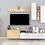 Thumbnail: Elisa Wall Mounted TV Unit In Parmesan & Ivory