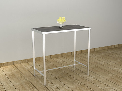 Shannon Bar Table in Textured Grey and White