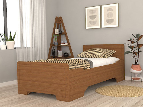 Iris Single Bed with Storage in Textured Kempas