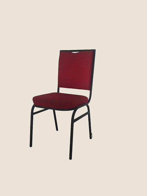 Martin Visitors Chair in Dark Red
