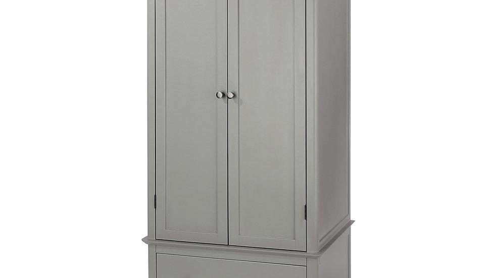 2 door, 1 drawer wardrobe