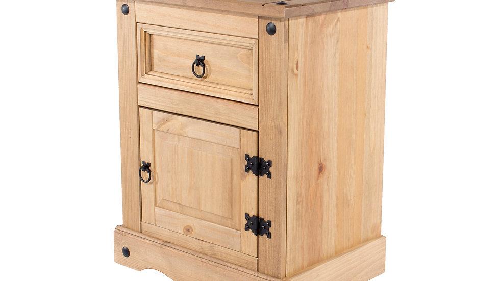1 door, 1 drawer bedside cabinet