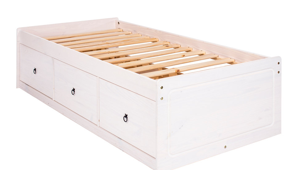 """White painted 3'0""""cabin bed"""