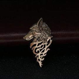 Vintage wolf brooch