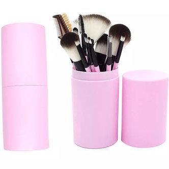 12pc professional make up brush set