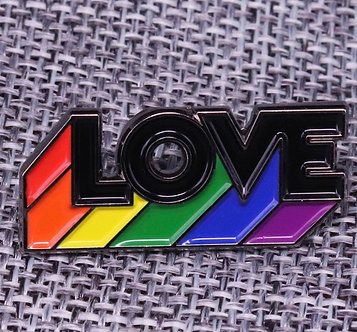 LOVE rainbow pin