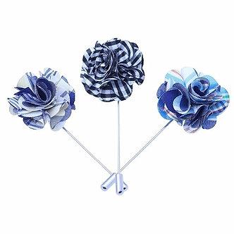 Vintage fabric flower lapel pin