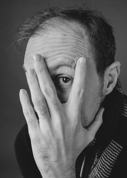 schwarzweiß studio portrait augen