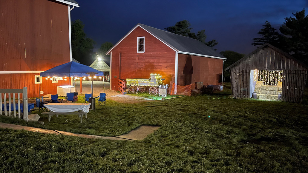 Additional tents and Corn Crib decorated for photo opportunities