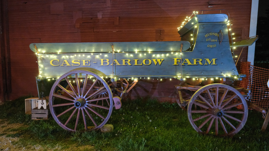Photo opportunity in front of the Case Barlow Farm wagon decorated.