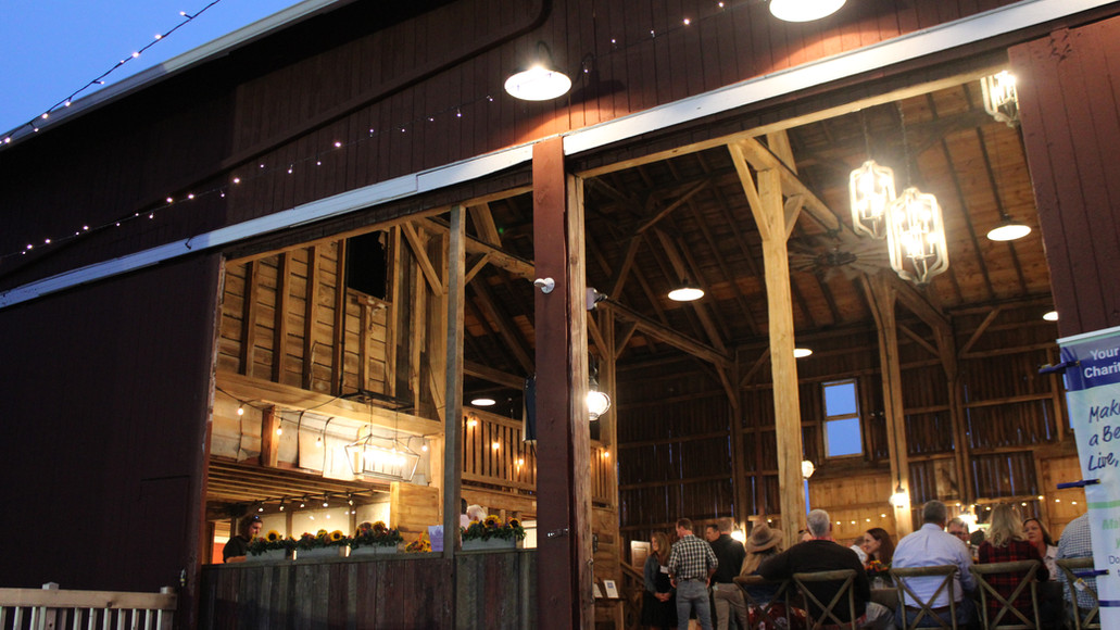 Wonderful private party at Case Barlow Farm's Historic barn