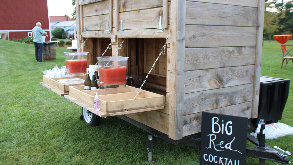 Case Barlow Farm Food Stand - serving up beverages at a private party.