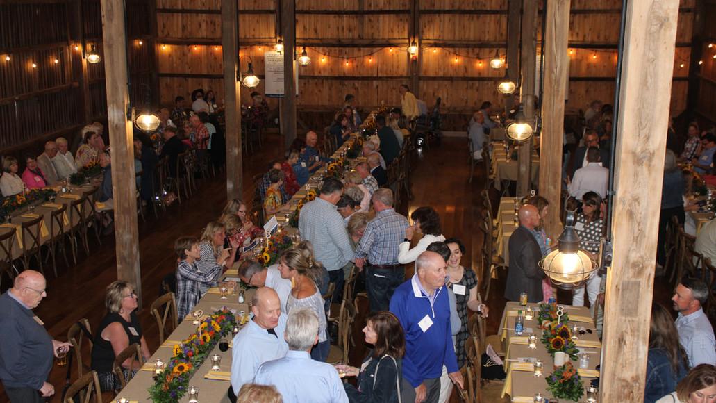 Wonderful evening at Case Barlow Farm dining in the barn