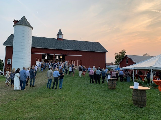 Private party enjoying the sunset at Case Barlow Farm