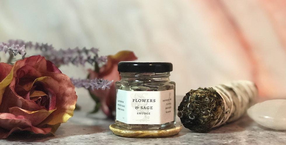 Flowers & Sage Herbal Smudge