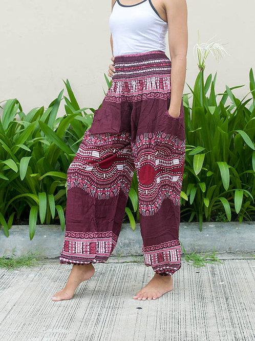 Women's High Waist African Dashiki Pants Tribal Pants Thai Harem Pants Yoga Pant