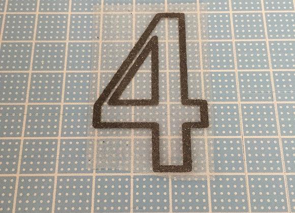 シャイニーシート『数字:4』
