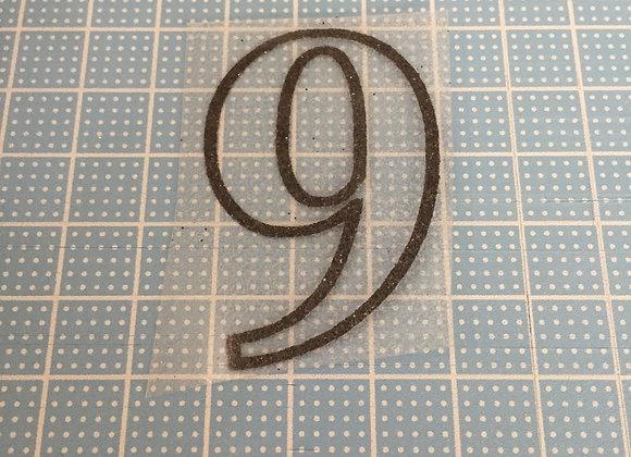 シャイニーシート『数字:9』