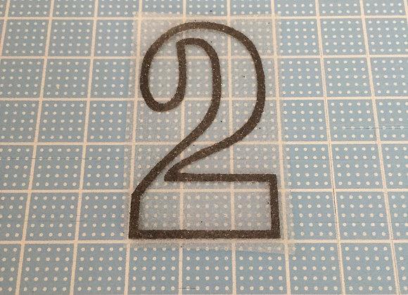シャイニーシート『数字:2』