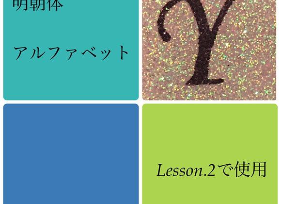 シャイニーシート「Y」明朝体