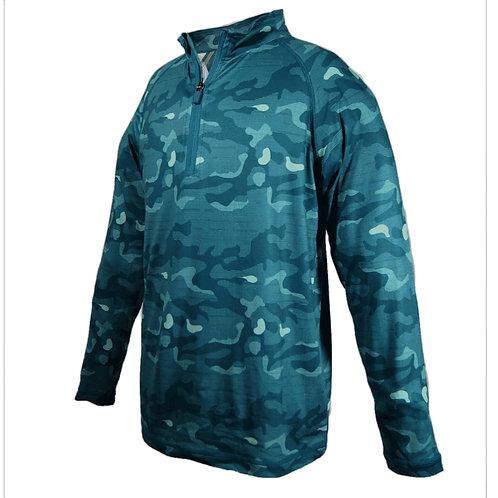 Benton - Leichtes Langarm Golfshirt im Camo Look, mit Sonnenschutz