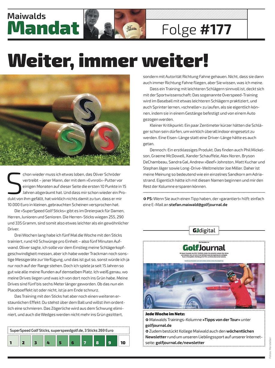 SuperSpeed Golf Journal Deutschland