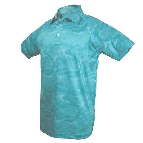 Adam - Golf Polo Kurzarm im Camouflage Look mit Sonnenschutz