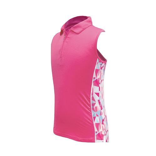 Kaya - Ärmelloses Poloshirt mit raffiniertem Rücken und Sonnenschutz