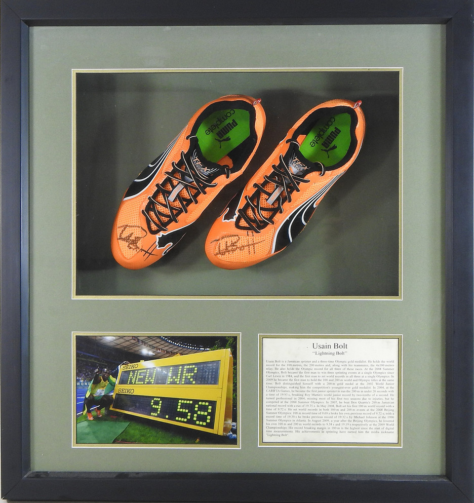 Usain Bolt's running shoes sell in Suffolk