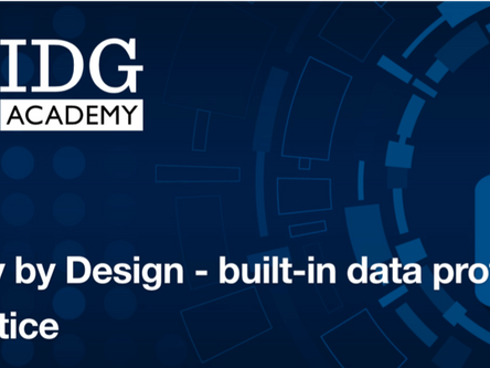 IDG Academy and Privacy1 collaborate to offer Privacy by Design Training Courses