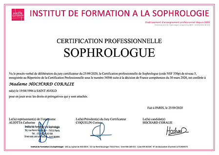 Certification professionnelle Sophrologue