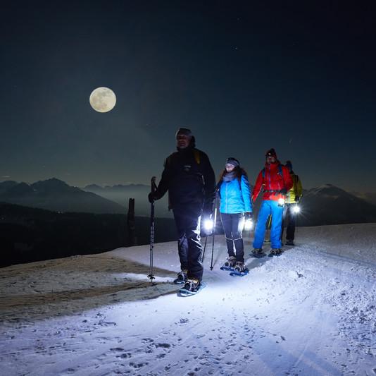 Schneeschuhwandern bei Vollmond mit Nationalpark Ranger