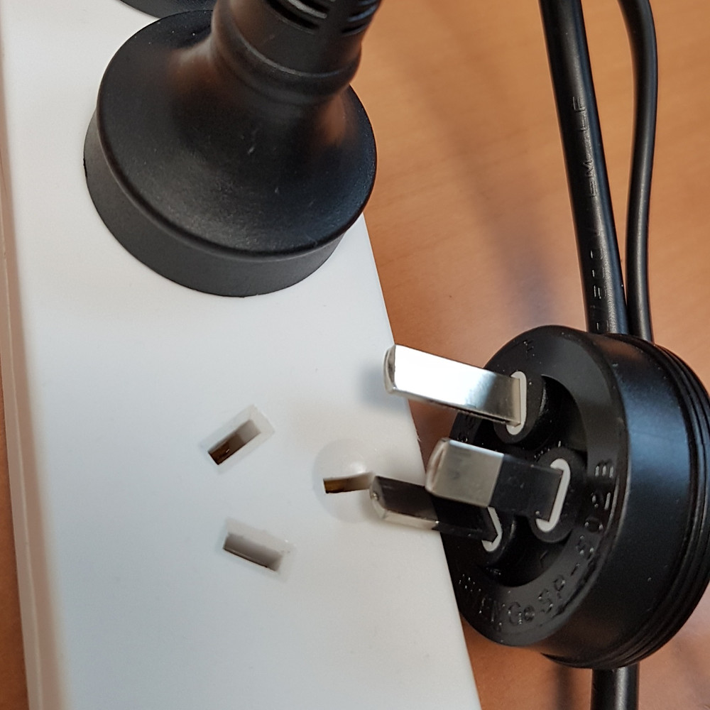 Multibox with unplugged power cord